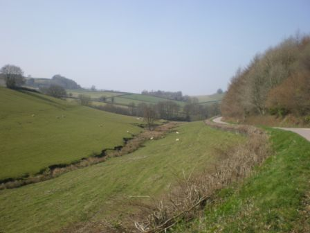 Long sweeping valley at Bampton